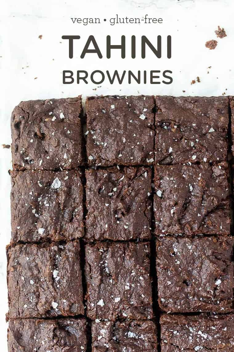Healthy Tahini Brownies with Quinoa Flour