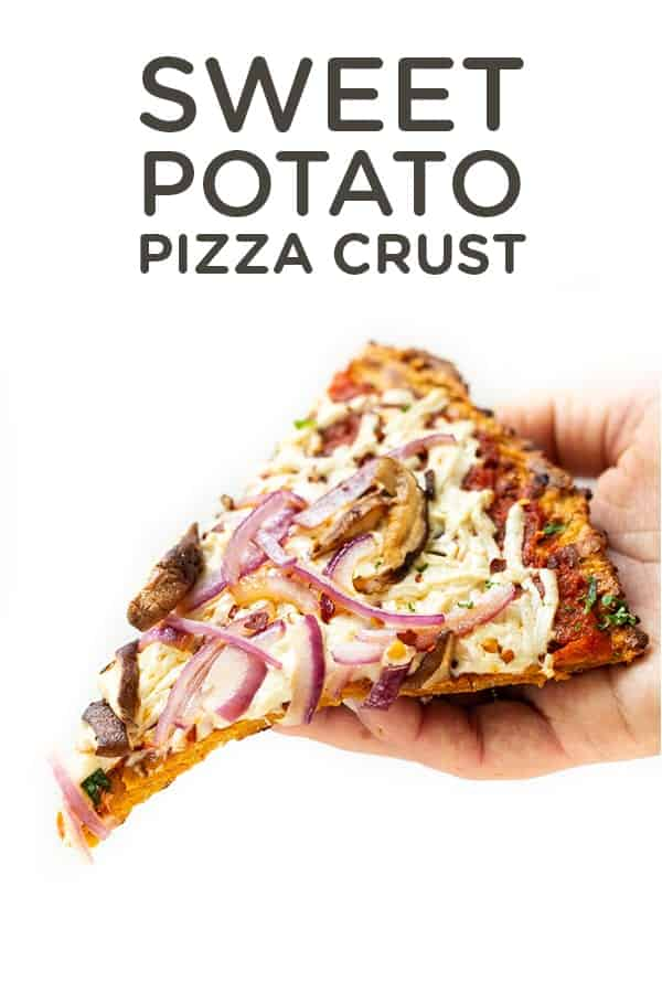 Healthy Pizza Crust made from Sweet Potatoes