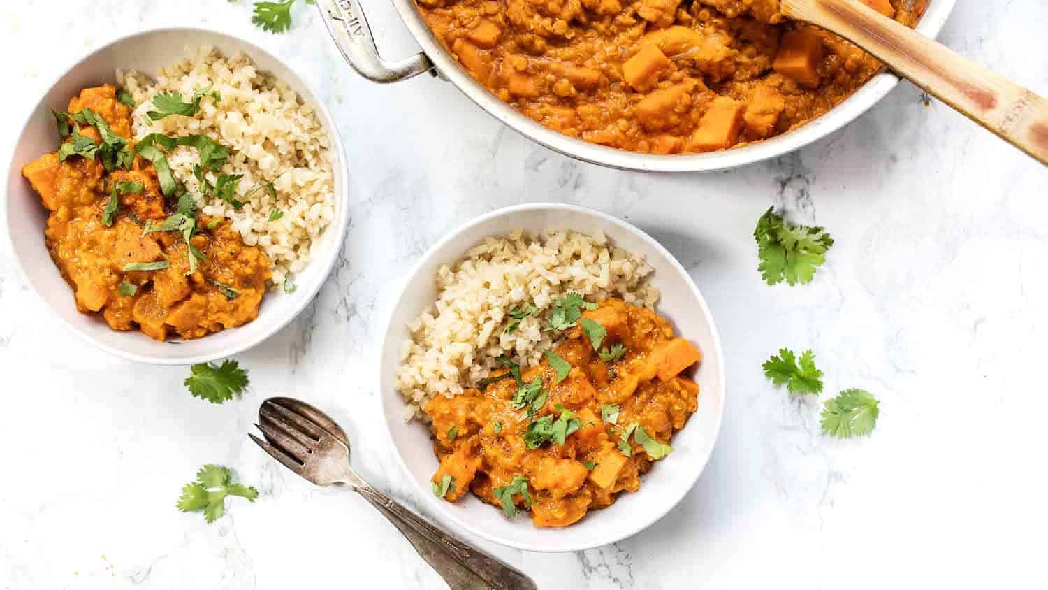 Creamy Sweet Potato Red Lentil Curry