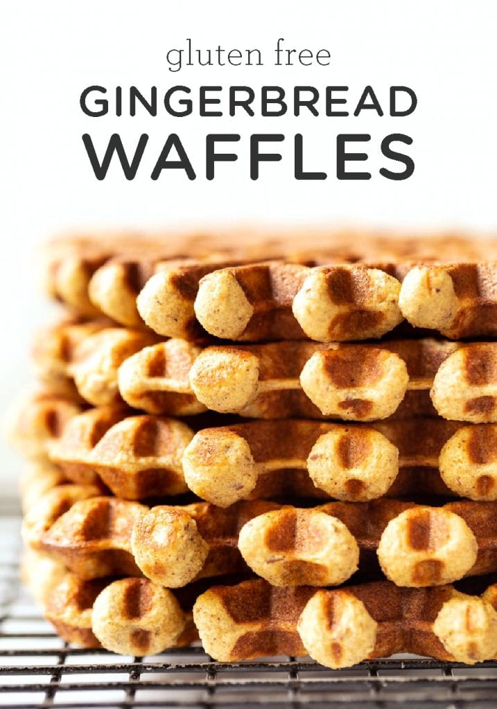 Gluten-Free Fluffy Gingerbread Waffles