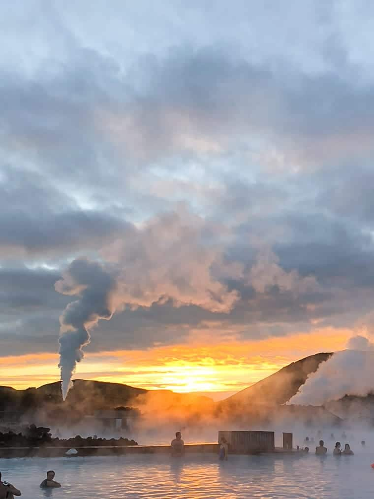 Sunrise at the Blue Lagoon Iceland