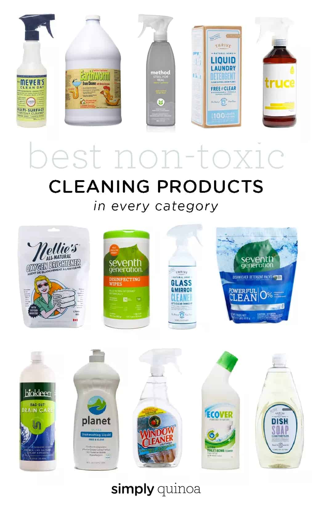 Best Non-Toxic Cleaning Products in every category!