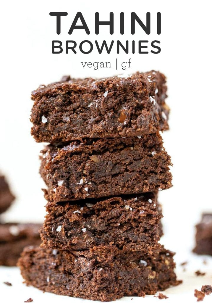 Vegan Tahini Brownies
