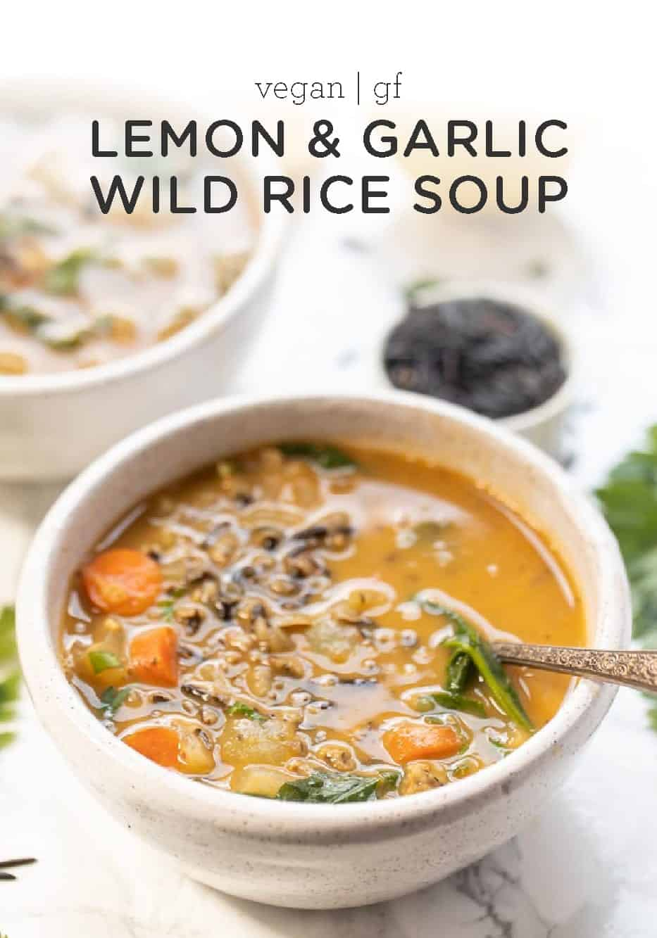 Easy Wild Rice Soup with Garlic
