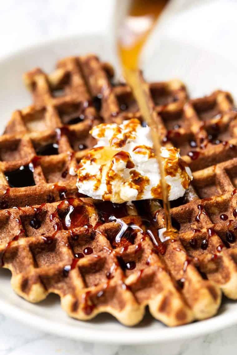 Gluten-Free Gingerbread Waffles