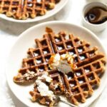 Healthy Gingerbread Waffles