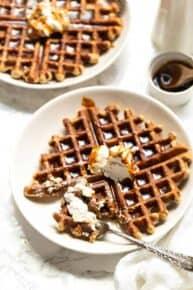 Healthy Gingerbread Waffles