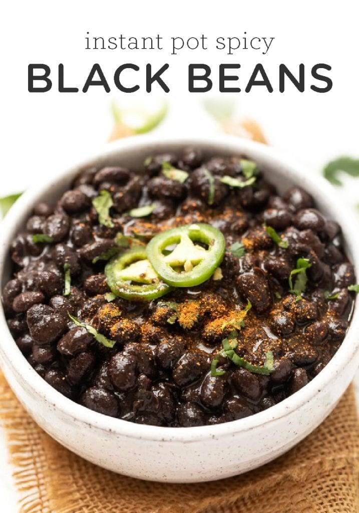 Instant Pot Spicy Black Beans
