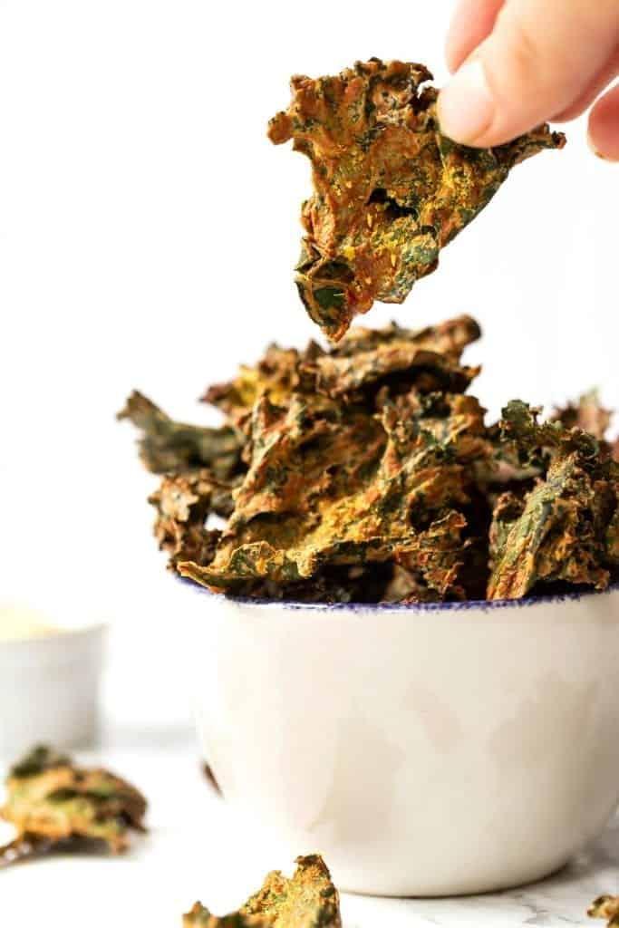 Vegan Cheesy Kale Chips