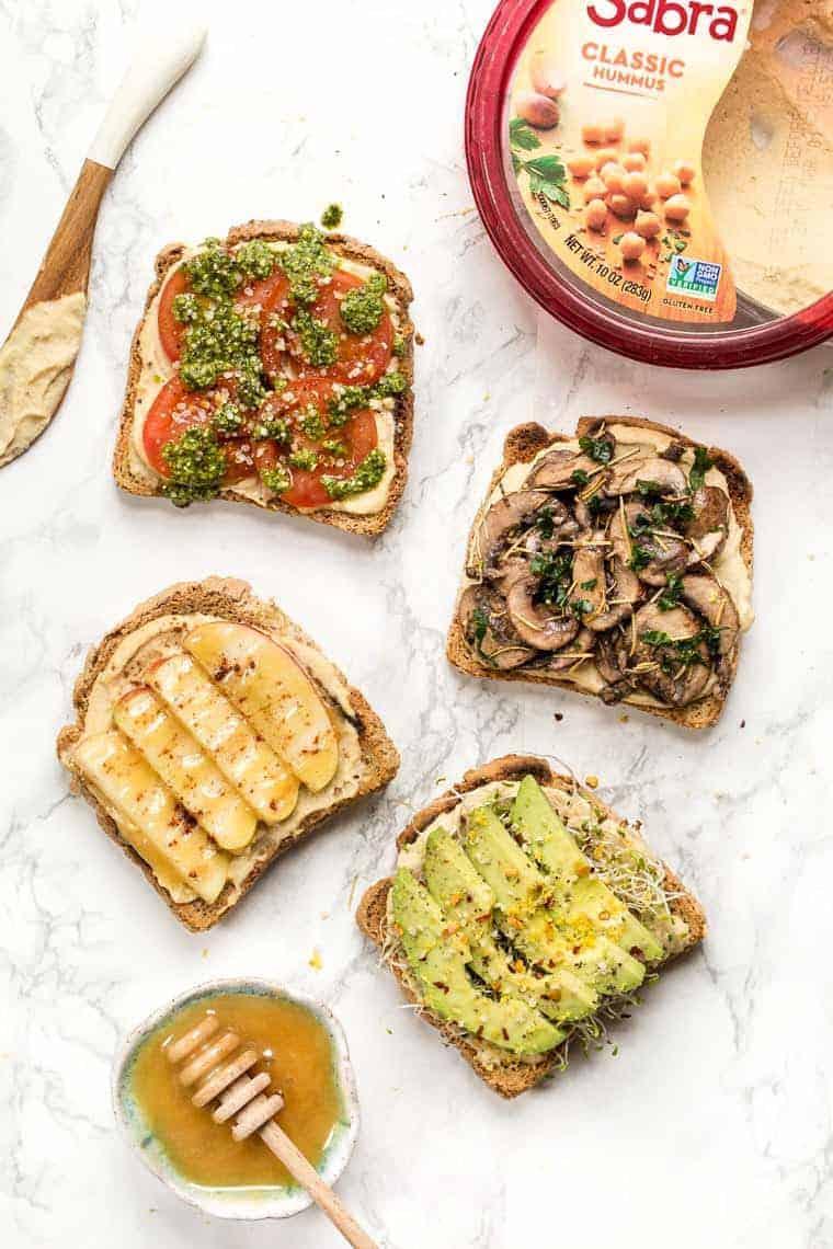 How to make 4 Hummus Toast Recipes