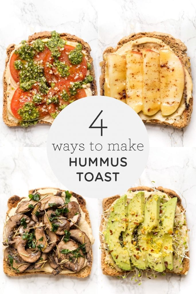 4 Ways To Make Hummus Toast