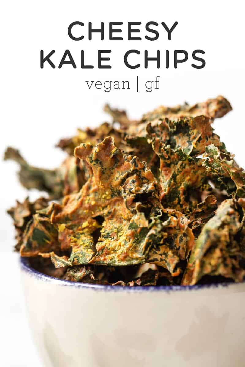 Baked Kale Chips with Nutritional Yeast
