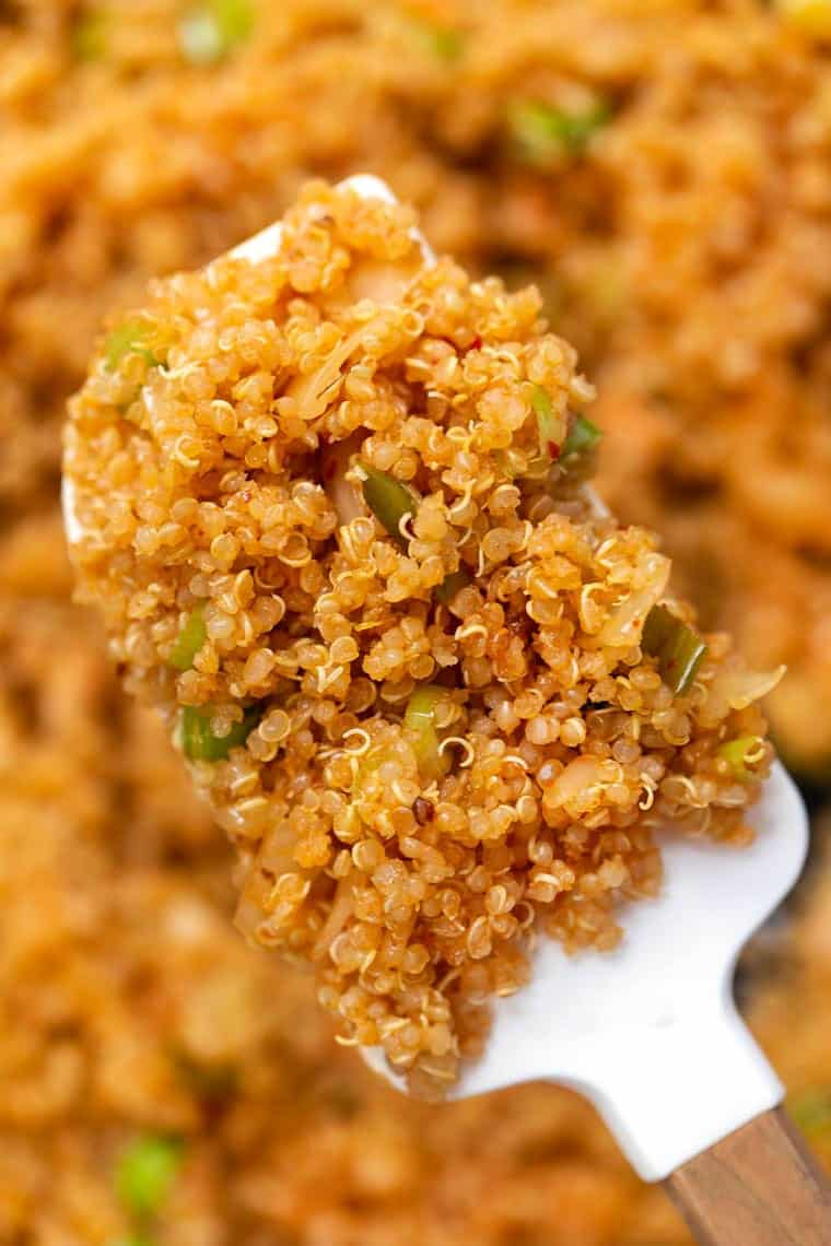 Easy Quinoa Recipe with Kimchi