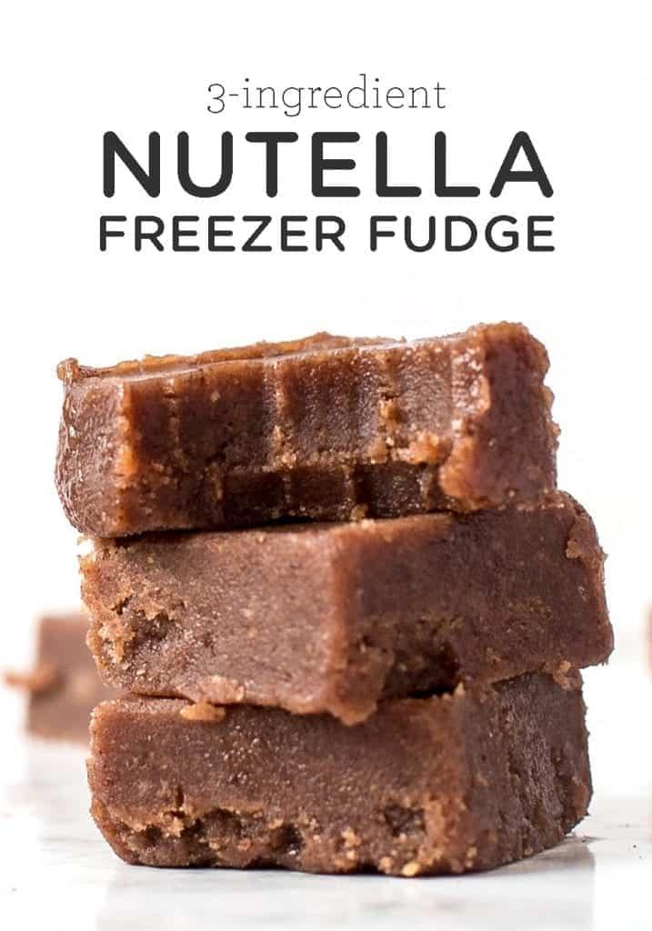 3-Ingredient Nutella Freezer Fudge