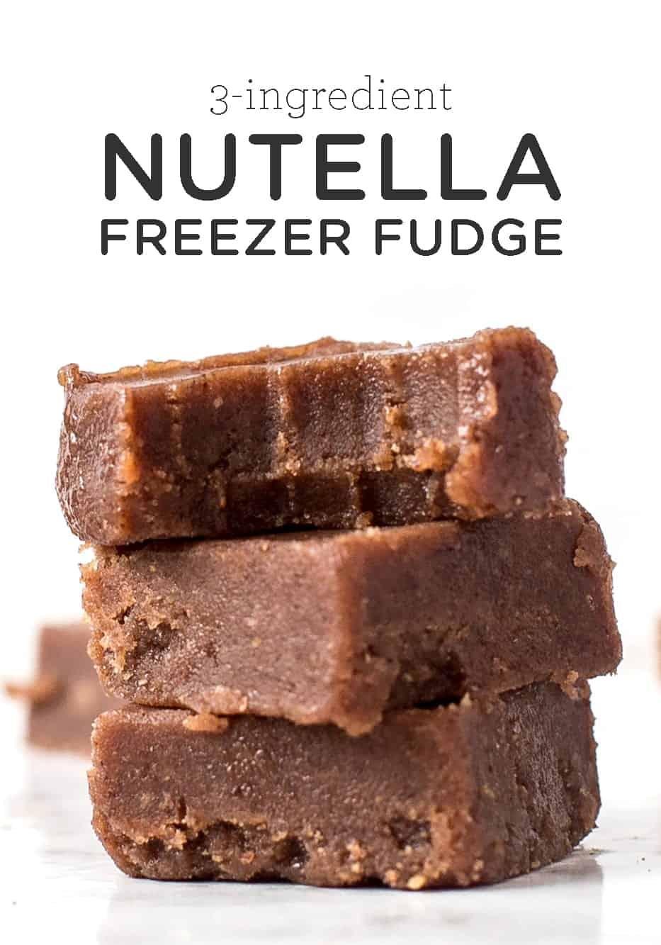 How to Make Nutella Freezer Fudge | Using 3 Ingredients - Simply Quinoa