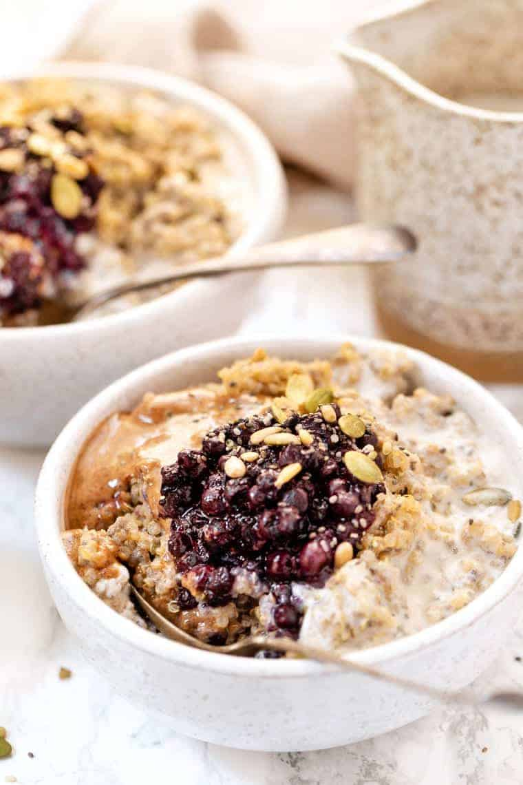 Vegan Quinoa Breakfast Bowls with Protein