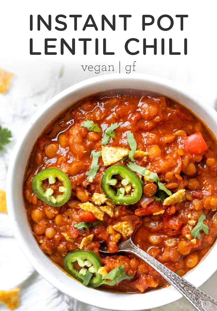 Amazing Lentil Chili in the Instant Pot