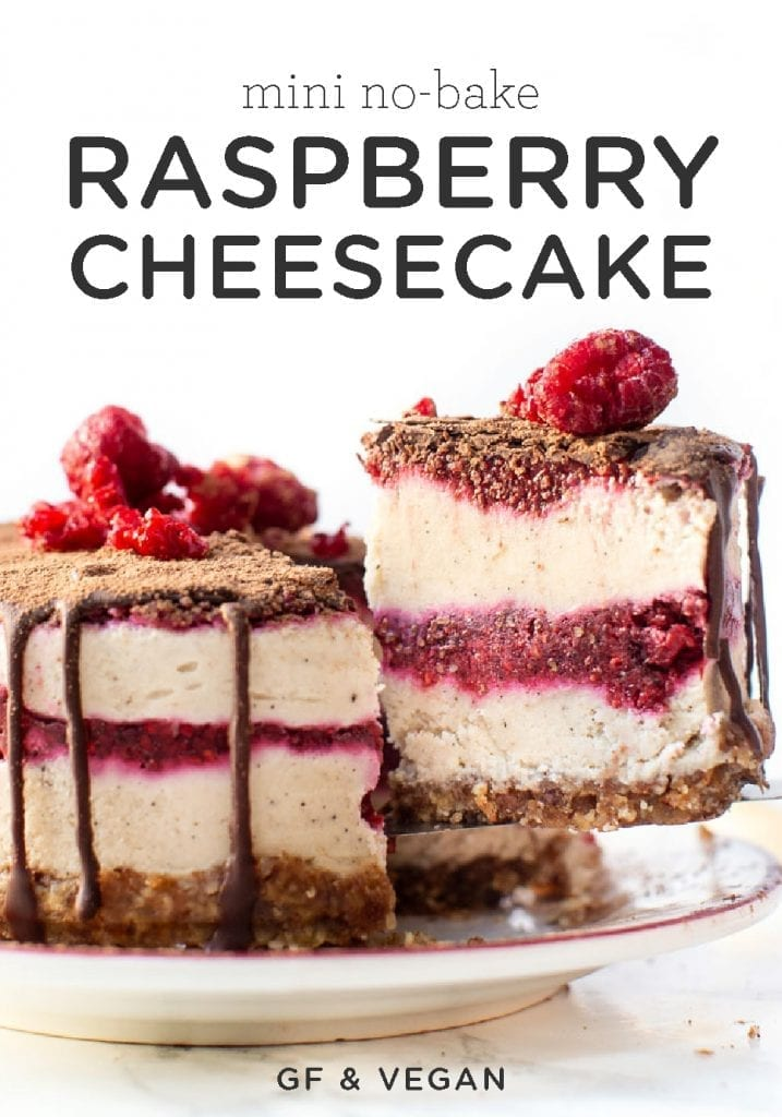 No Bake Raspberry Mini Cheesecake