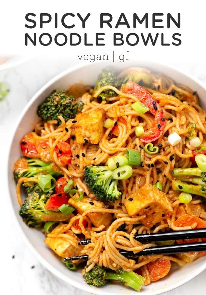 Vegan Red Curry Noodle Bowls