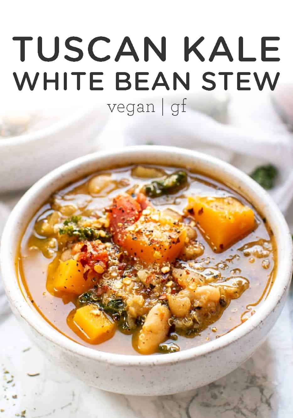 Hearty Tuscan Stew with Kale and White Beans