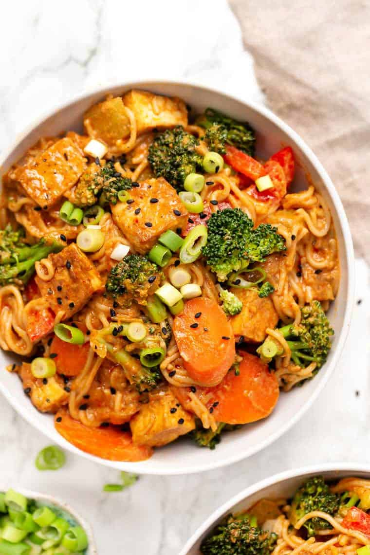 Healthy Red Curry Noodles