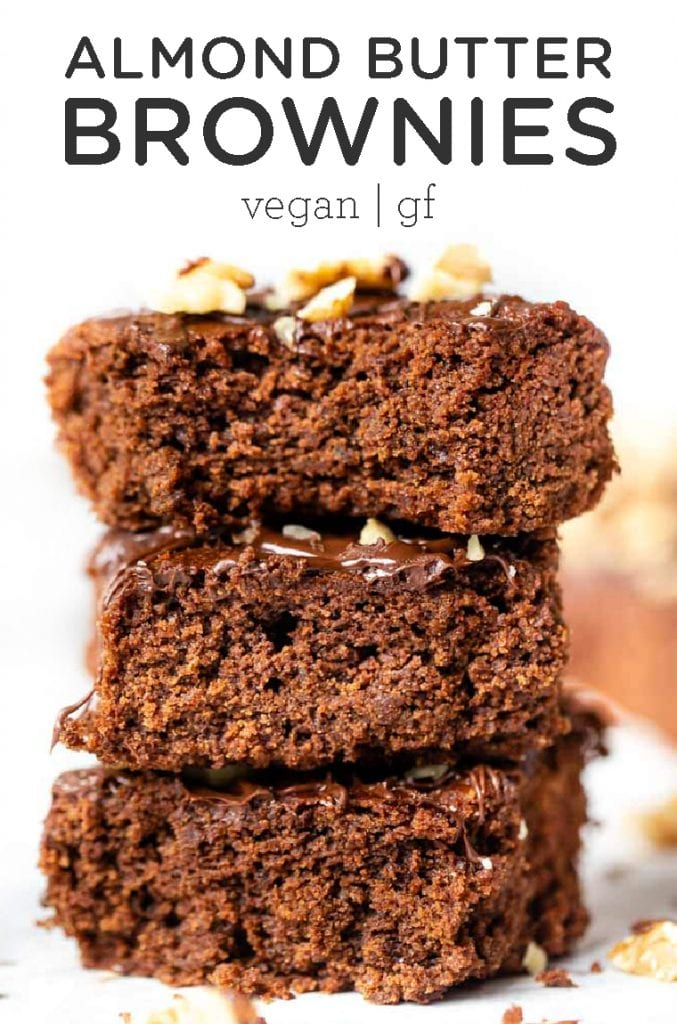 Gooey Vegan Almond Butter Brownies