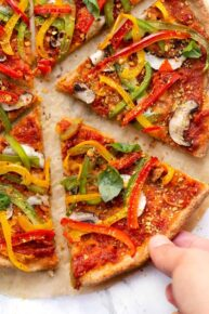 Vegan Almond Flour Pizza Recipe