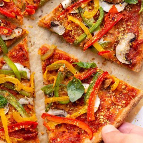 Vegan Almond Flour Pizza Recipe