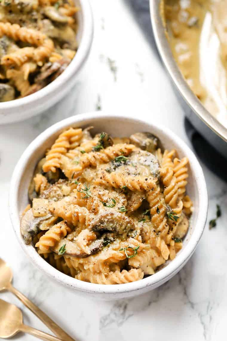 Vegan Mushroom Stroganoff Pasta