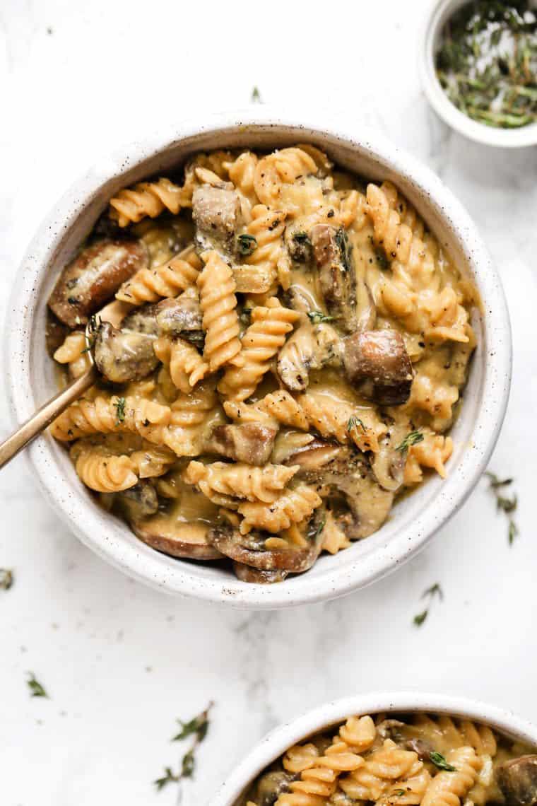Healthy Mushroom Stroganoff
