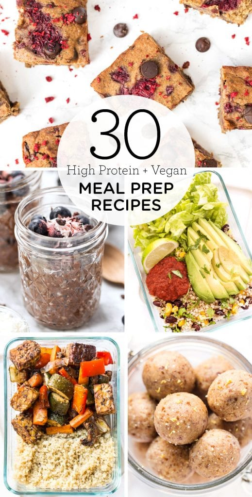30 high protein vegan meal-prep recipes
