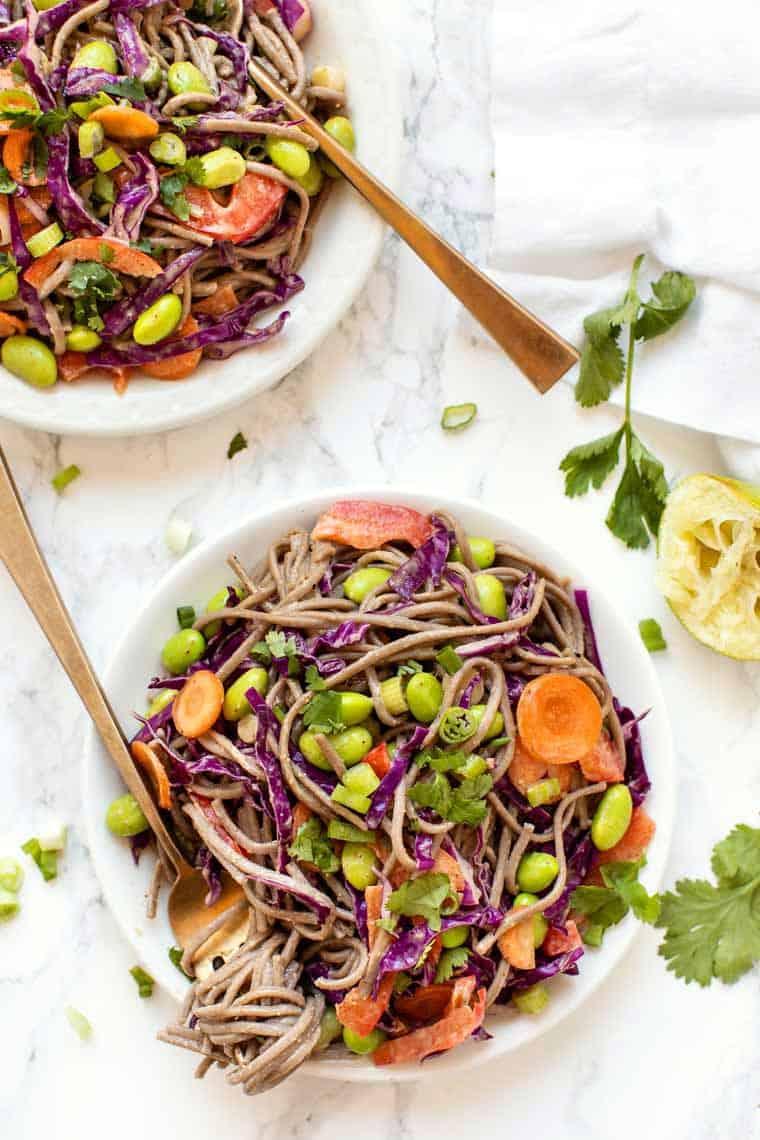 Easy Vegetable Soba Noodle Salad