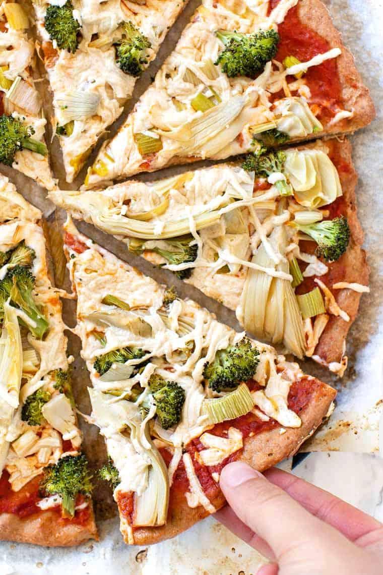 5 Ingredient Quinoa Pizza Crust