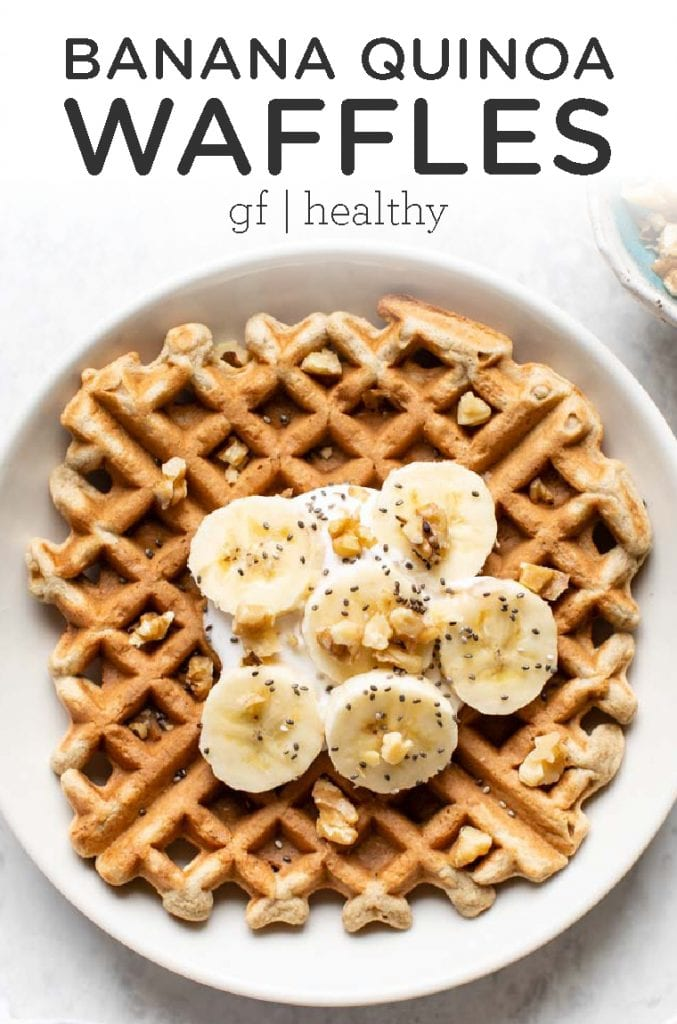 Gluten-Free Banana Quinoa Waffles
