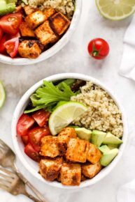Vegan Quinoa Bowls with Tofu