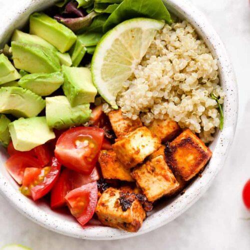 Tofu Quinoa Bowls for Meal Prep