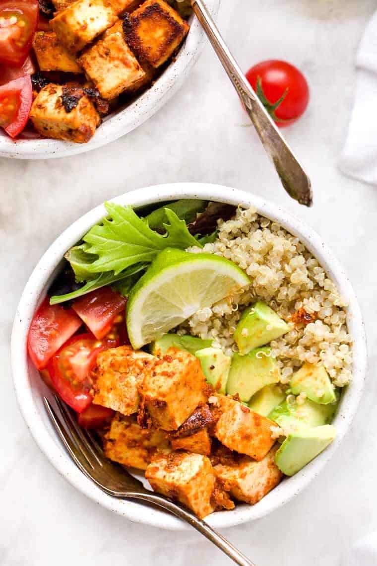 Meal Prep Tofu Quinoa Bowls