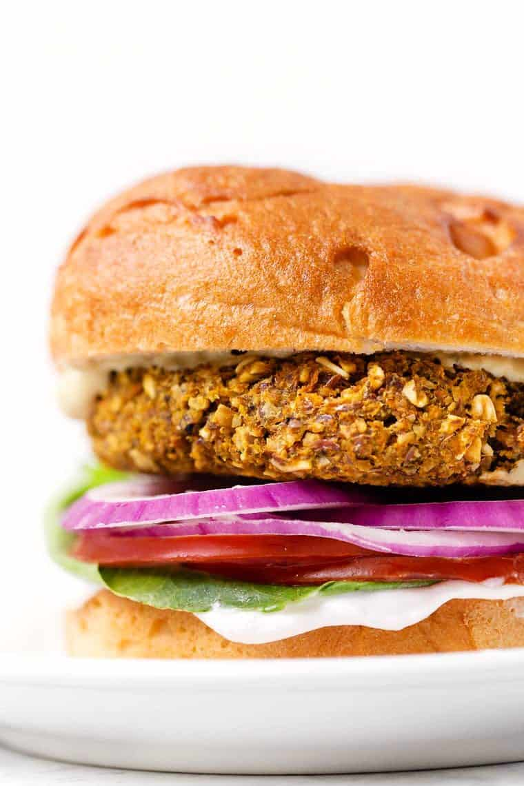 Curried Chickpea & Carrot Burgers