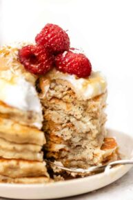 The Best Vegan Pancakes with Coconut