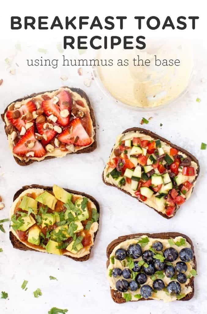 4 Hummus Toast Breakfast Recipes