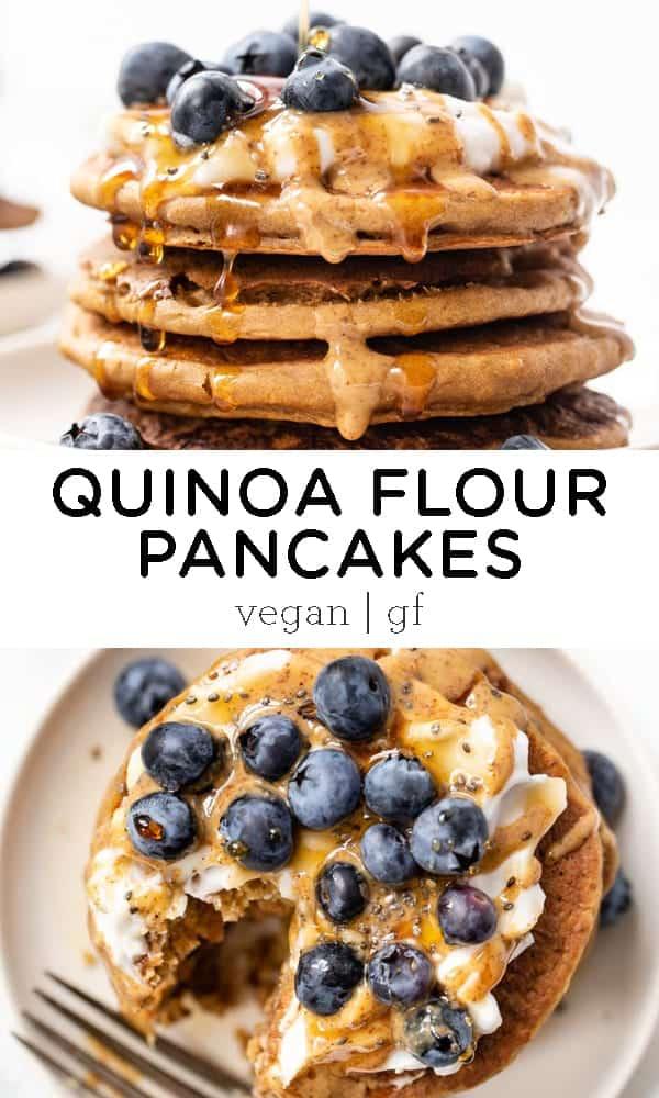 Fluffy Quinoa Flour Pancakes