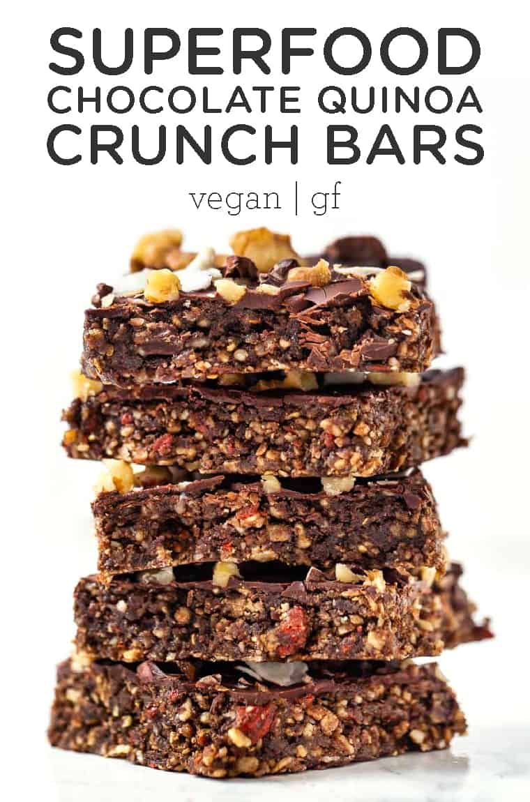 Superfood Chocolate Quinoa Crunch Bars