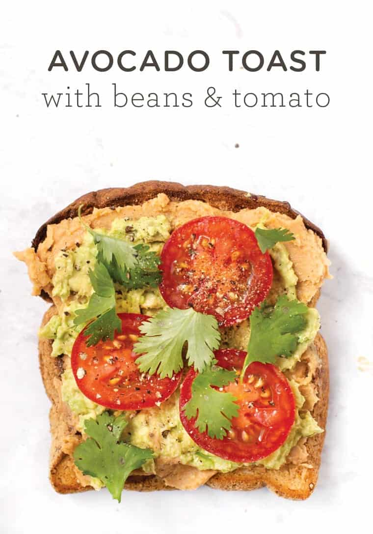 Healthy Avocado Toast with Beans and Tomato