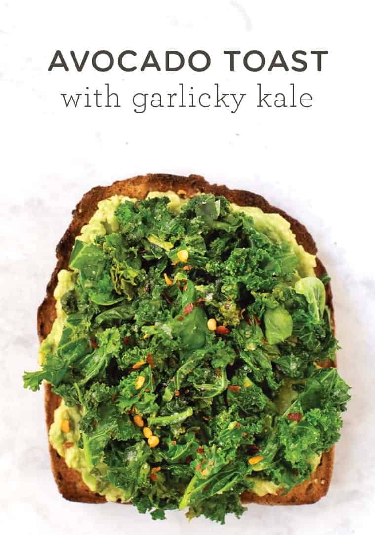 Avocado Toast with Garlic Kale