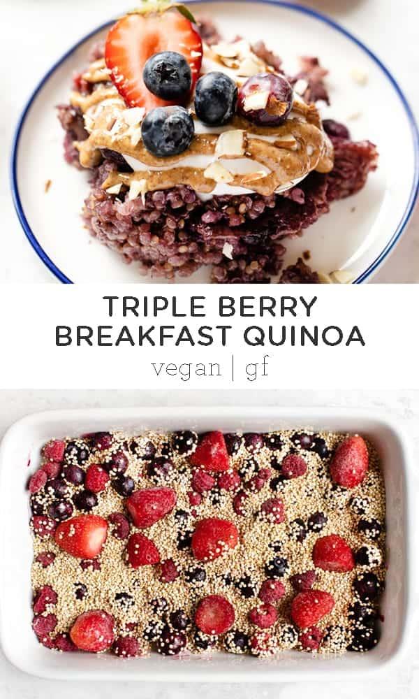Triple Berry Baked Breakfast Quinoa
