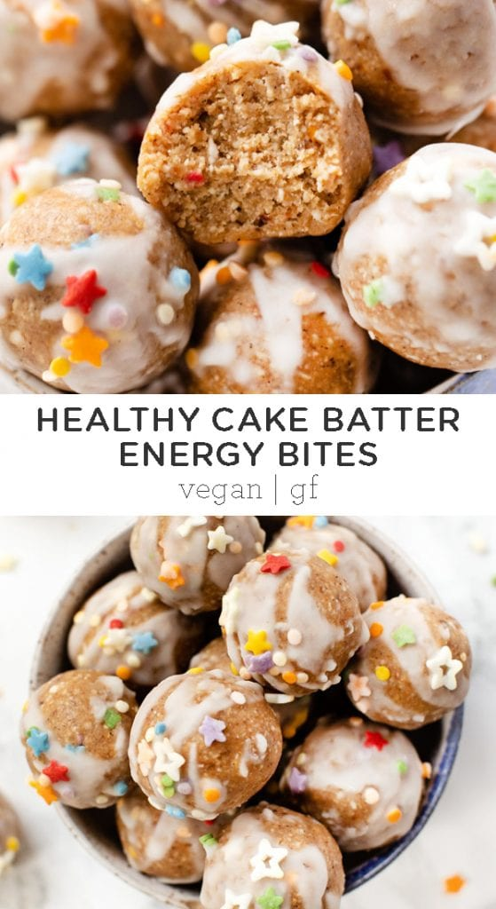 Cake Batter Energy Bites