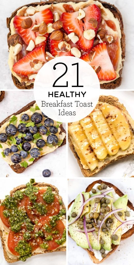 21 favorite healthy breakfast toast ideas