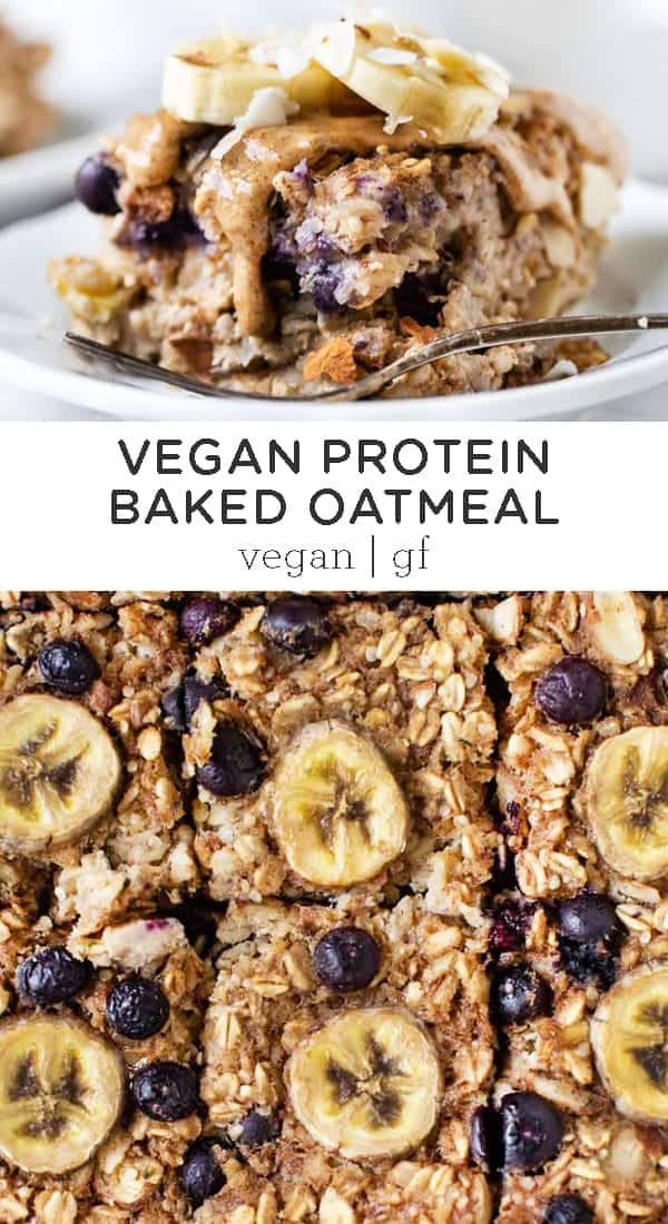 Protein Baked Oatmeal With Bananas And Blueberries Simply