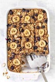 Vegan Baked Oatmeal with Bananas