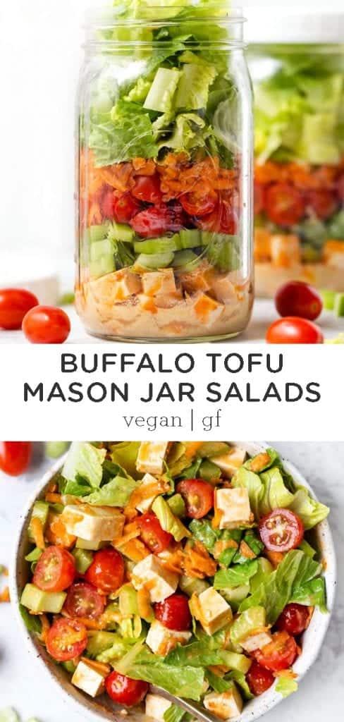 buffalo mason jar salads